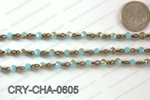 Angelic Crystal Rondelle Chain 6mm  CRY-CHA-0605