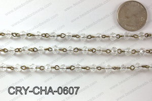 Angelic Crystal Rondelle Chain 6mm  CRY-CHA-0607