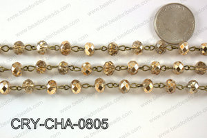Angelic Crystal Rondelle Chain 8mm  CRY-CHA-0805