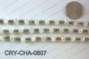 Angelic Crystal Rondelle Chain 8mm  CRY-CHA-0807