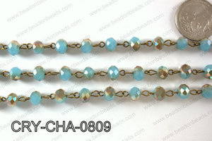 Angelic Crystal Rondelle Chain 8mm  CRY-CHA-0809