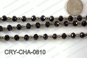 Angelic Crystal Rondelle Chain 8mm  CRY-CHA-0810