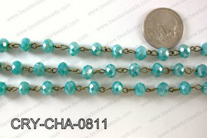 Angelic Crystal Rondelle Chain 8mm  CRY-CHA-0811