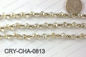 Angelic Crystal Rondelle Chain 8mm  CRY-CHA-0813