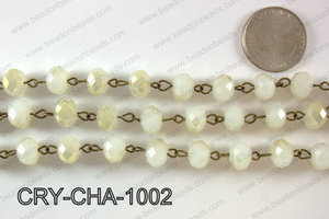 Angelic Crystal Rondelle Chain 10mm  CRY-CHA-1002