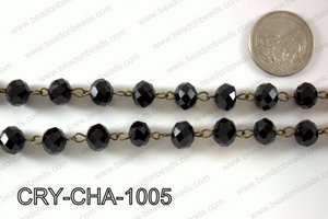 Angelic Crystal Rondelle Chain 10mm  CRY-CHA-1005
