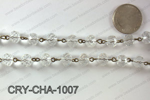 Angelic Crystal Rondelle Chain 10mm  CRY-CHA-1007