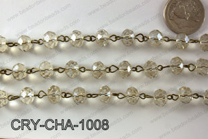Angelic Crystal Rondelle Chain 10mm  CRY-CHA-1008
