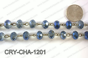 Angelic Crystal Rondelle Chain 12mm  CRY-CHA-1201
