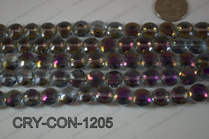 Angelic Crystal Coin Faceted 12mm CRY-CON-1205