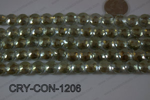 Angelic Crystal Coin Faceted 12mm CRY-CON-1206