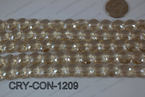 Angelic Crystal Coin Faceted 12mm CRY-CON-1209