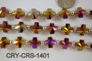 Angelic Crystal Cross 14x14mm CRY-CRS-1401