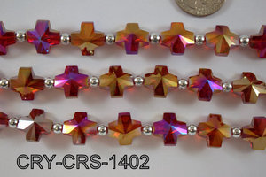 Angelic Crystal Cross 14x14mm CRY-CRS-1402