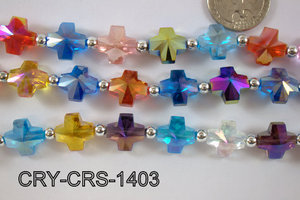 Angelic Crystal Cross 14x14mm CRY-CRS-1403
