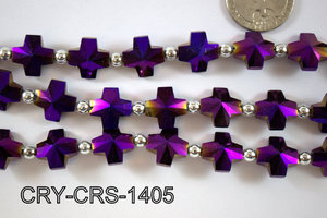 Angelic Crystal Cross 14x14mm CRY-CRS-1405