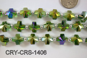 Angelic Crystal Cross 14x14mm CRY-CRS-1406