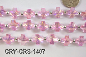 Angelic Crystal Cross 14x14mm CRY-CRS-1407