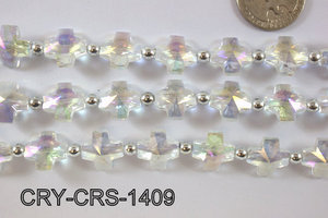 Angelic Crystal Cross 14x14mm CRY-CRS-1409