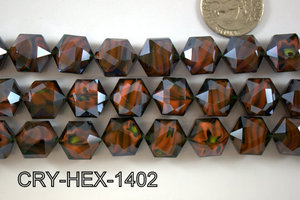 Angelic Crystal Hexagon 14mm 14'' CRY-HEX-1402