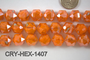 Angelic Crystal Hexagon 14mm 14'' CRY-HEX-1407
