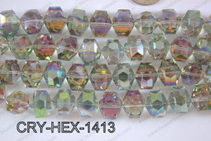 Angelic Crystal Hexagon 14mm CRY-HEX-1413