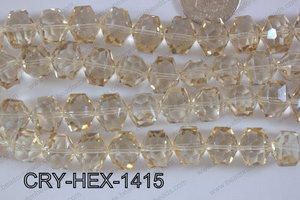 Angelic Crystal Hexagon 14mm CRY-HEX-1415