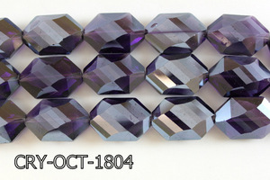 Angelic Crystal Octagon 18x25mm 14'' CRY-OCT-1804