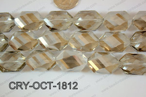 Angelic Crystal Octagon 18x25mm 14'' CRY-OCT-1812