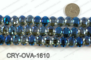Angelic crystal side drilled oval 12x16mmCRY-OVA-1610