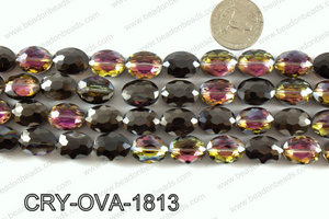 Angelic crystal faceted oval 12x16mmCRY-OVA-1813
