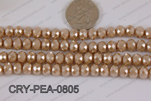 Rondelle Crystal with Pearl Coating Brown 8mm CRY-PEA-0805