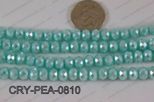 Rondelle Crystal with Pearl Coating Light Blue 8mm CRY-PEA-0810