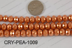Rondelle Crystal with Pearl Coating Orange 10mm CRY-PEA-1009