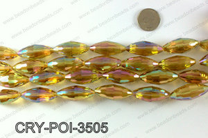 ANGELIC CRYSTAL POINTED OVAL 15x35mm CRY-POI-3505