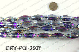 ANGELIC CRYSTAL POINTED OVAL 15x35mm CRY-POI-3507