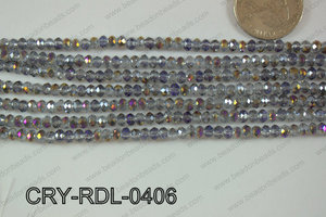 Crystal Rondel 4mm CRY-RDL-0406