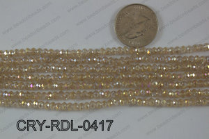 Crystal Rondel 4mm CRY-RDL-0417