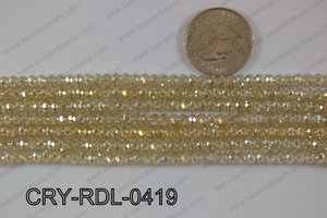 Crystal Rondel 4mm CRY-RDL-0419