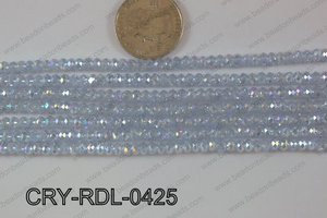 Crystal Rondel 4mm CRY-RDL-0425