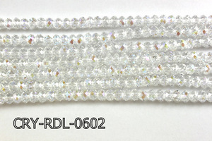 Angelic Crystal Faceted Rondel 6mm 10'' CRY-RDL-0602