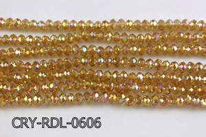 Angelic Crystal Faceted Rondel 6mm 10'' CRY-RDL-0606