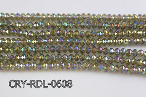 Angelic Crystal Faceted Rondel 6mm 10'' CRY-RDL-0608