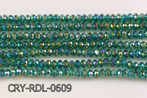 Angelic Crystal Faceted Rondel 6mm 10'' CRY-RDL-0609