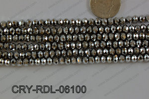 Crystal Rondel 6mm CRY-RDL-06100