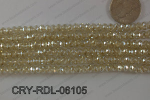 Crystal Rondel 6mm CRY-RDL-06105