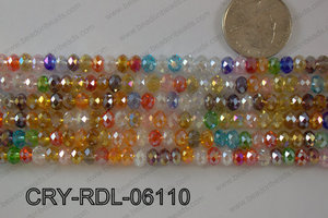 Crystal Rondel 6mm CRY-RDL-06110