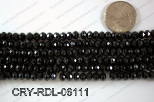 Crystal Rondel 6mm CRY-RDL-06111