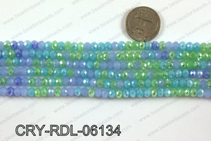 Angelic crystal rondels 6mm CRY-RDL-06134