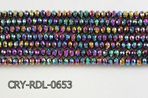 Angelic Crystal Faceted Rondel 6mm 10'' CRY-RDL-0653
